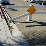 Damaged Guardrail at 3951 Monroe Avenue San Diego