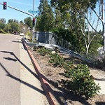 Damaged Guardrail at 12327-12399 Carmel Mountain Road San Diego
