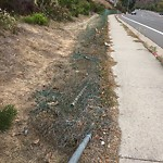 Damaged Guardrail at 7972–7986 Jackson Dr