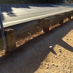Damaged Guardrail at 1764–2108 Pershing Dr
