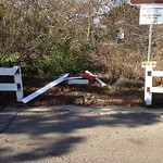 Damaged Guardrail at 2801–2899 Governor Dr