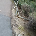 Damaged Guardrail at 12799 Jordan Ridge Ct