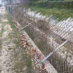 Damaged Guardrail at 5189–5421 Chateau Dr