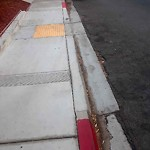 Curb at 2675 Worden St