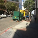 Dumpster Encroachment at 1st Ave