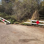Damaged Guardrail at 2800–2816 Governor Dr