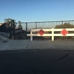 Damaged Guardrail at 11136–11198 Whispering Heights Ln