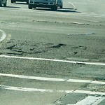 Pothole at 3250 Palm Ave